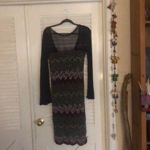 Free people NWT lace knit dress